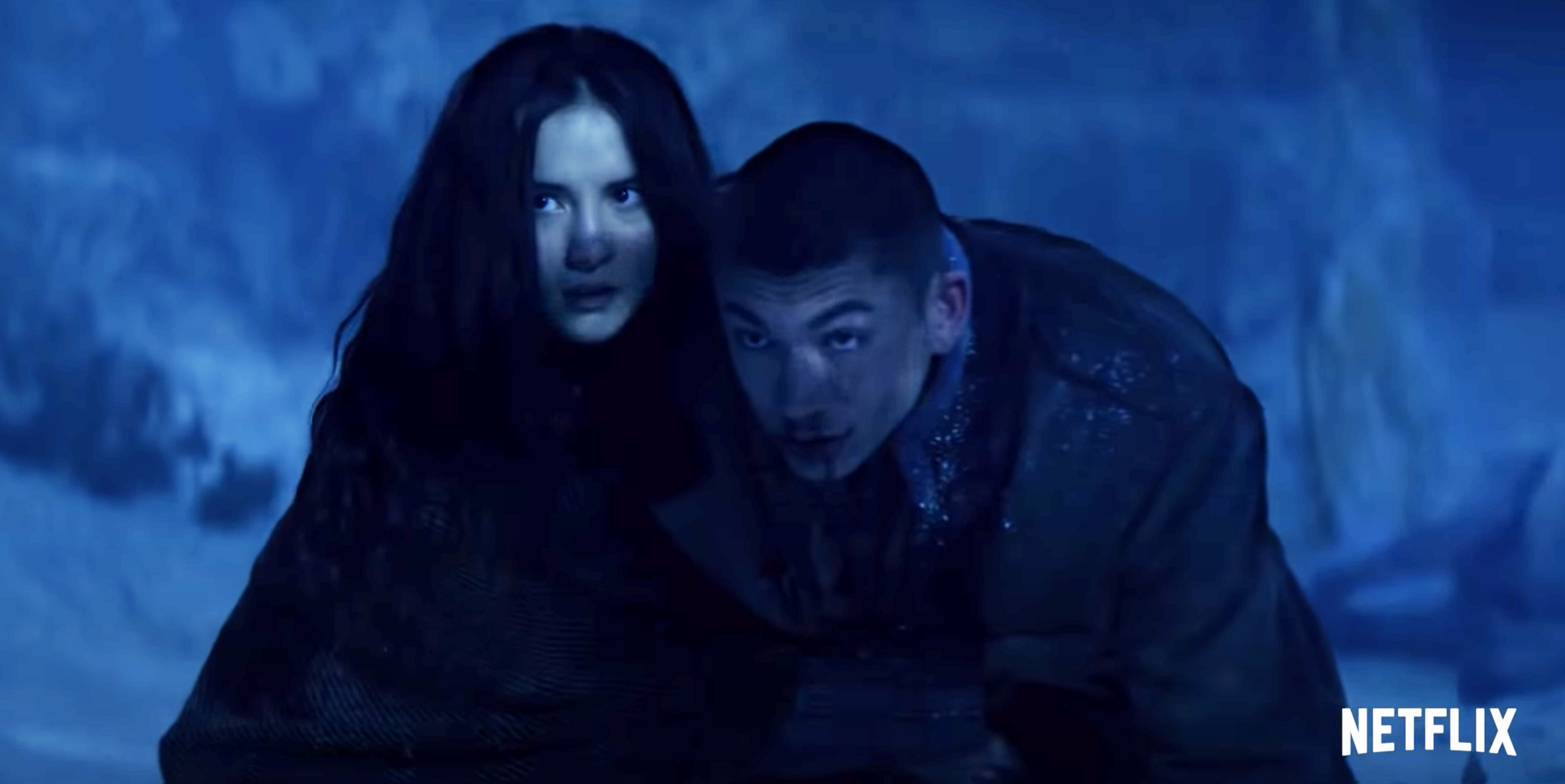 Jesse Mei Li and Archie Renaux as Alina Starkov and Mal Oretsev in Shadow and Bone