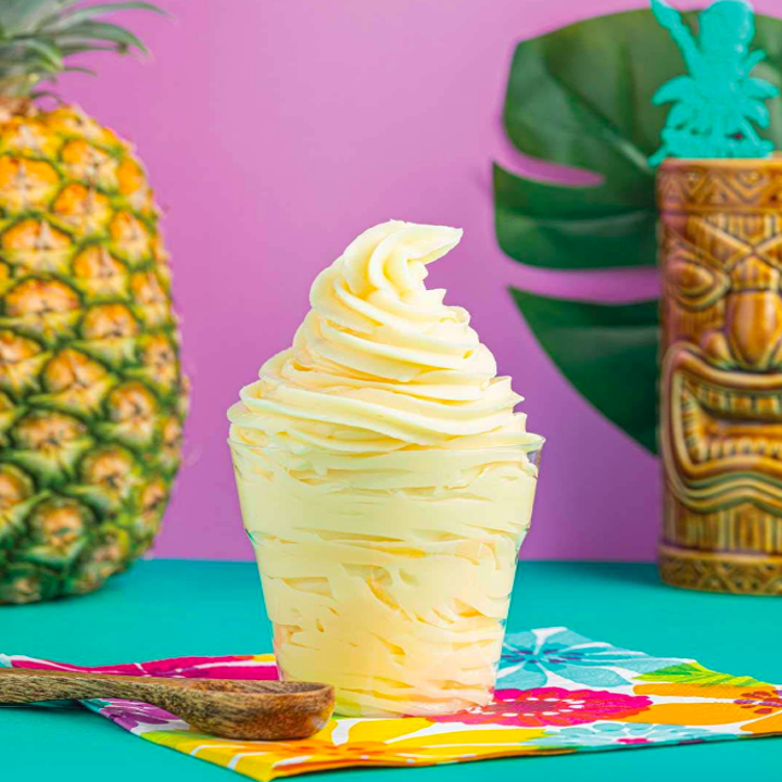 Dole whip treat inside clear cup