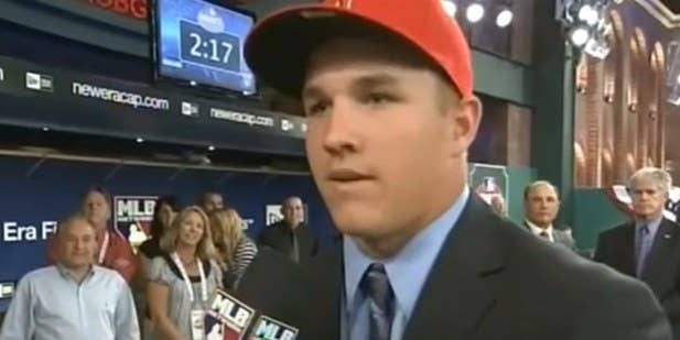 Young Mike Trout interviewed at MLB draft.