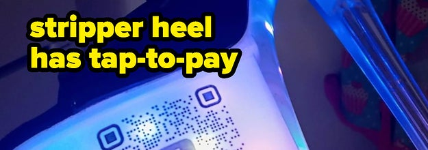 stripper heel has tap to pay