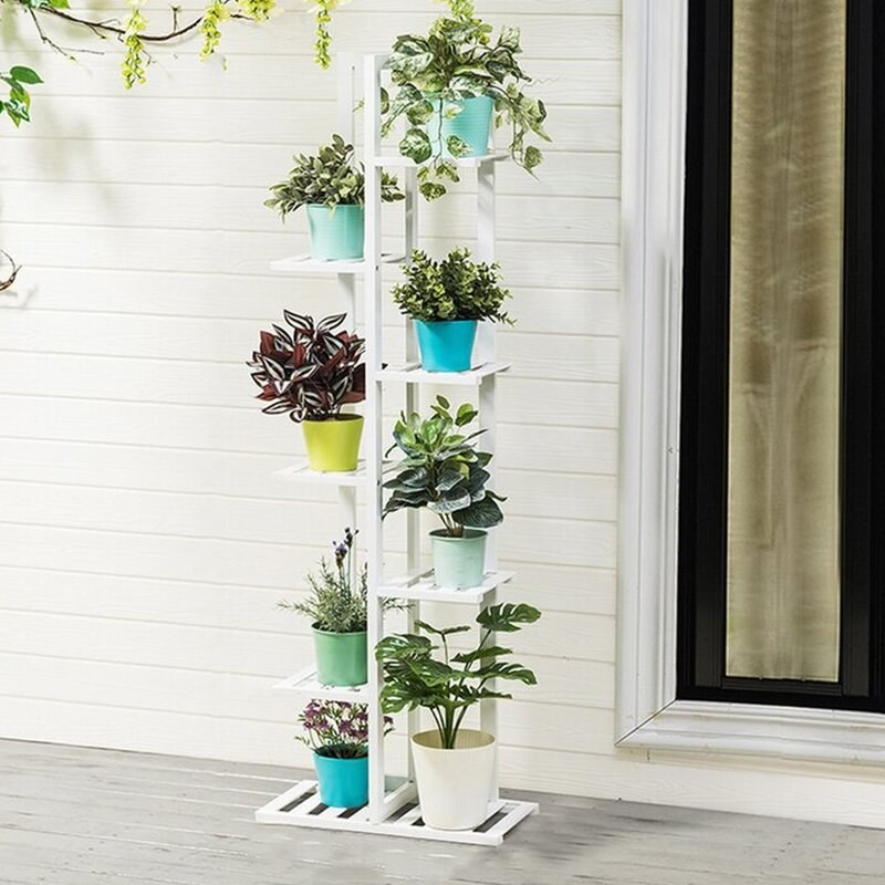 The plant stand in the color White