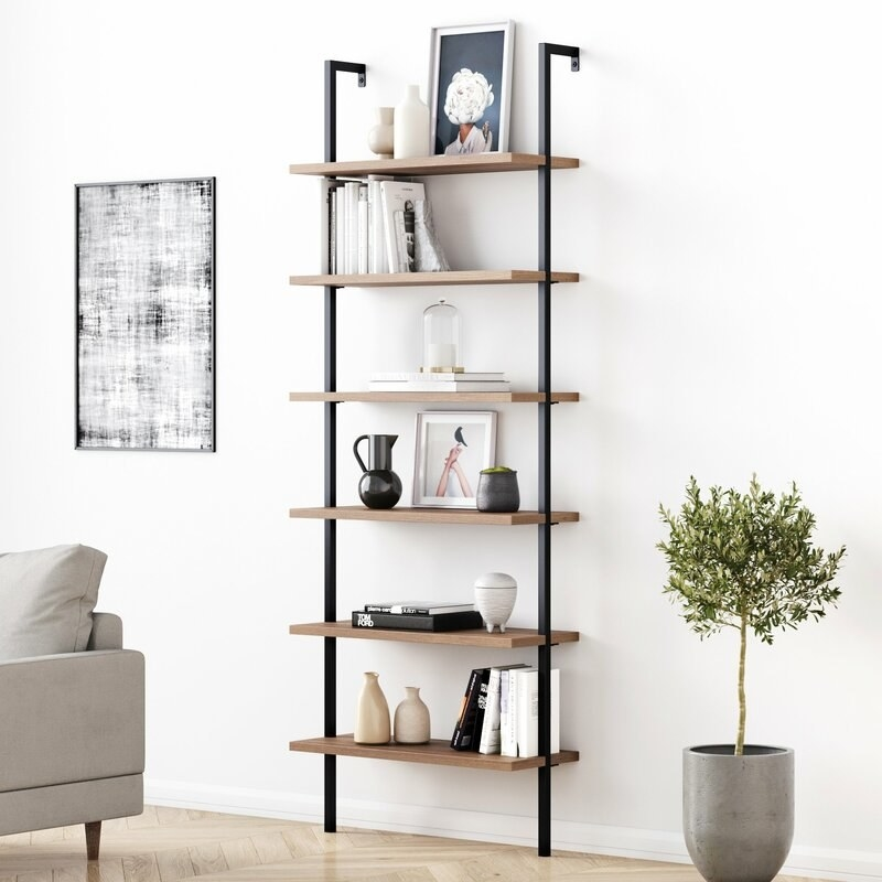The shelf in the color Oak/Black