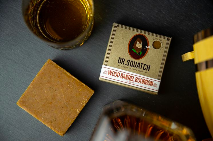 Wood barrel bourbon bar soap