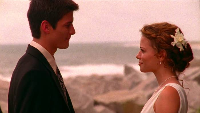 "Nathan and Haley from ""One Tree Hill"""