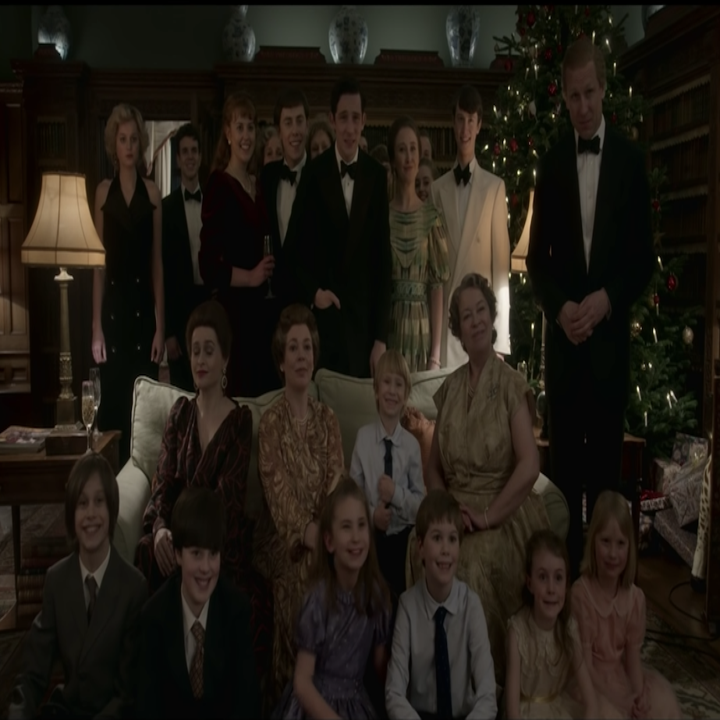 Family portrait from The Crown's Season 4 finale