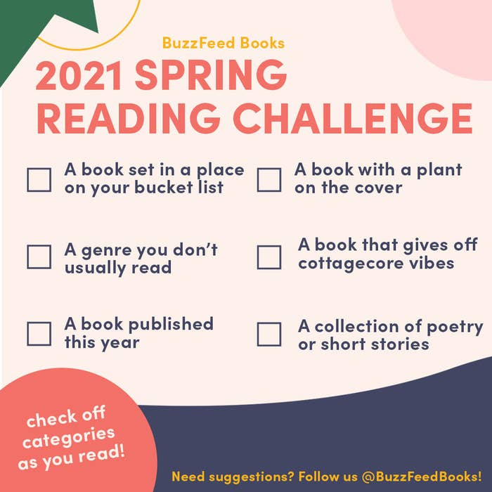 A colorful graphic explaining the Spring 2021 challenge