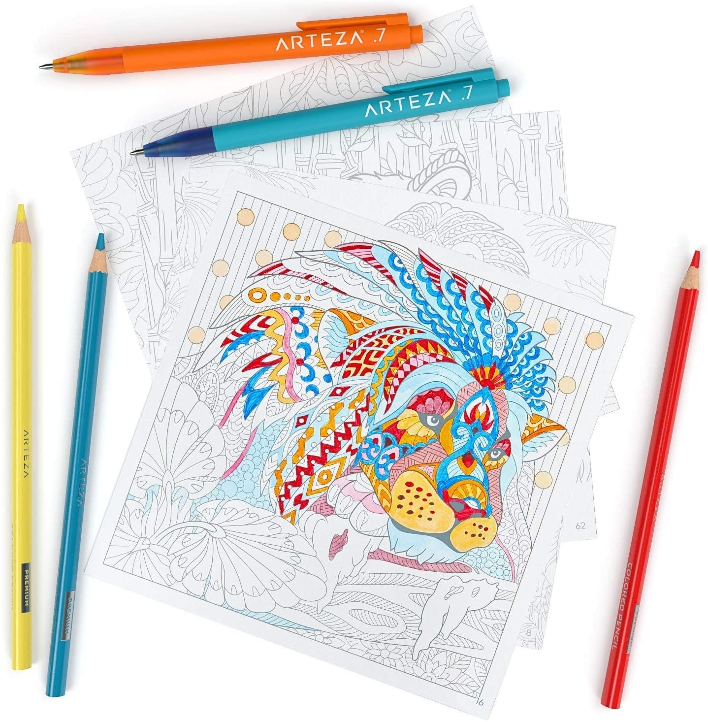 a page from the animal theme coloring book