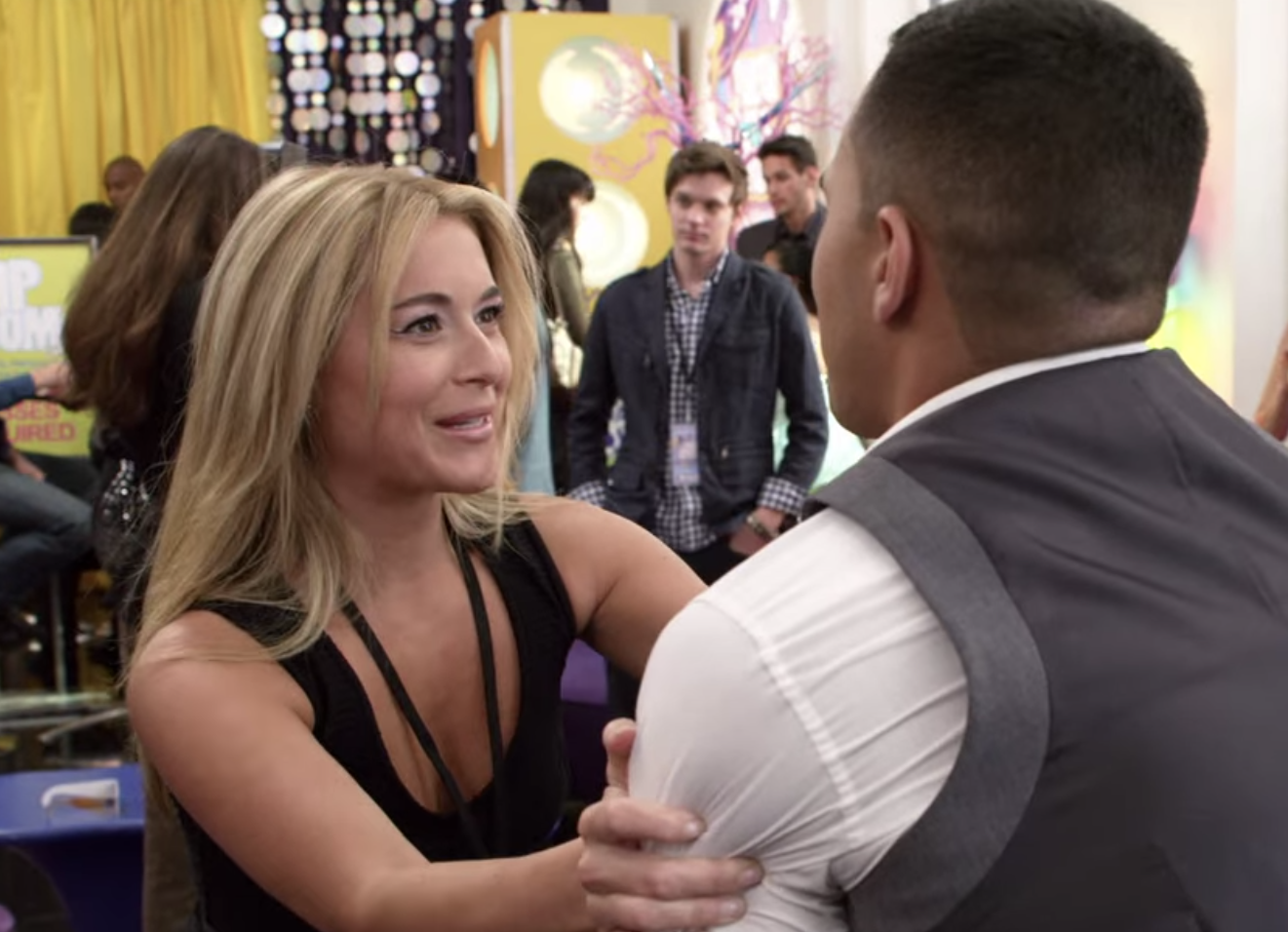 Alexa PenaVega talking to Carlos