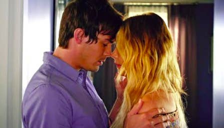 Caleb and Hanna about to kiss