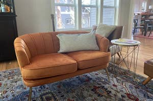 Customer photo of love seat sitting in living room