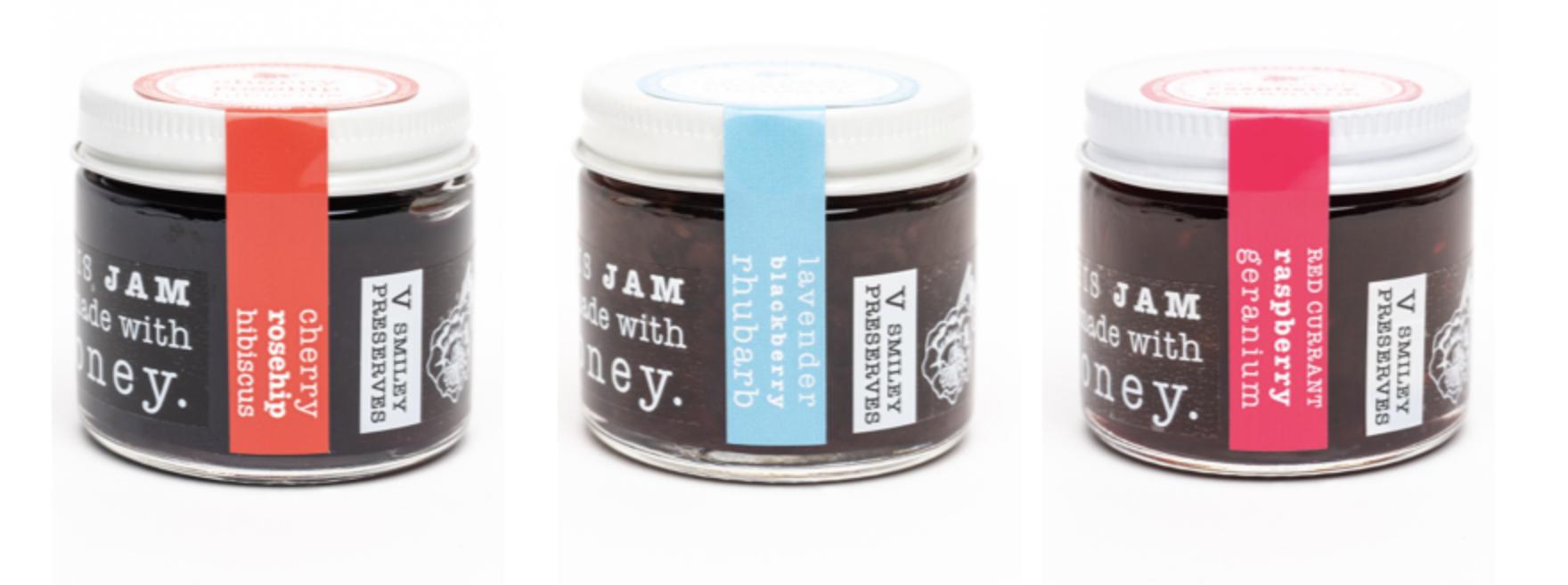 The three jars of jams