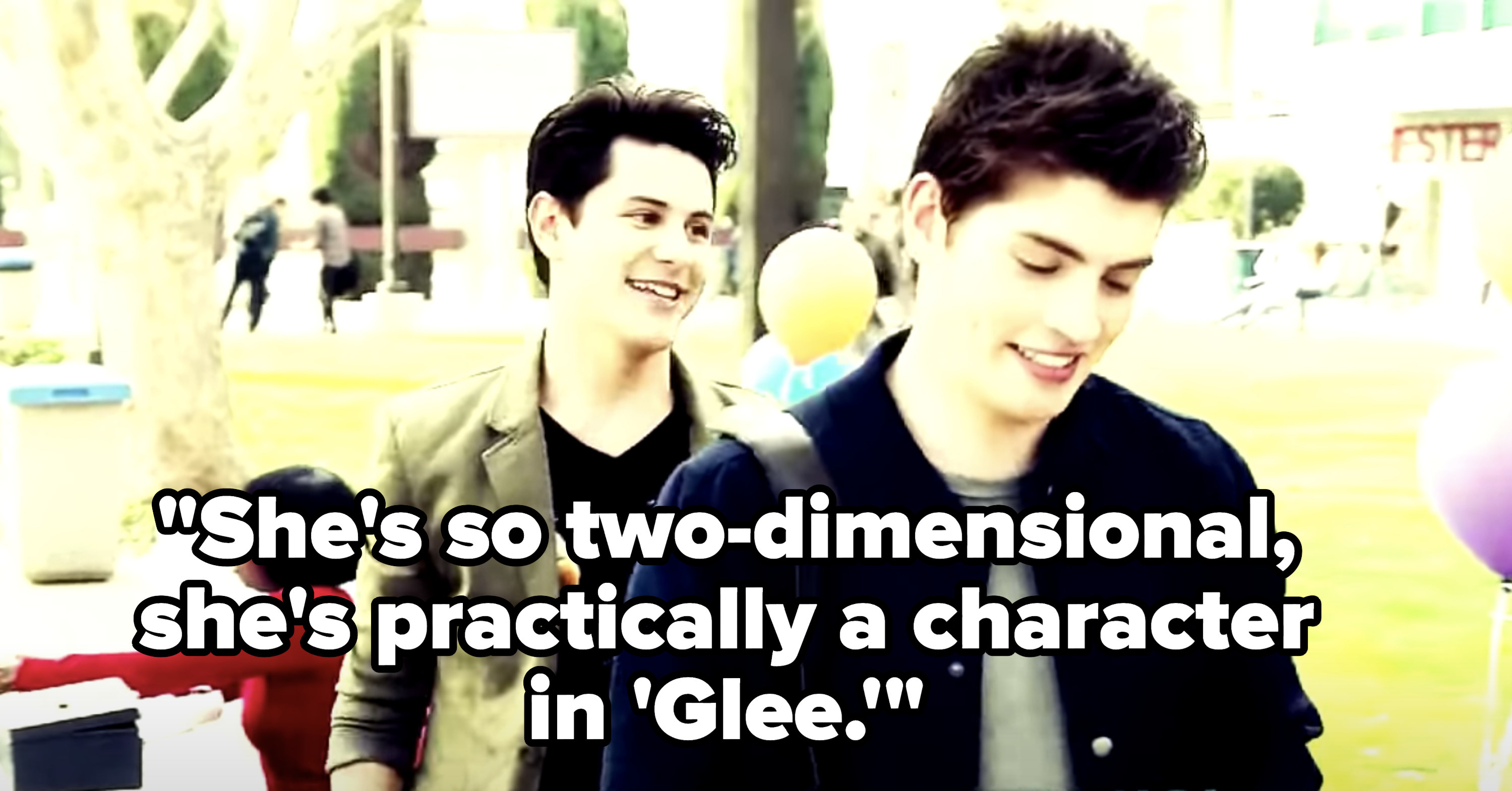 "Shane says ""She's so two-dimensional, she's practically a character on Glee"""