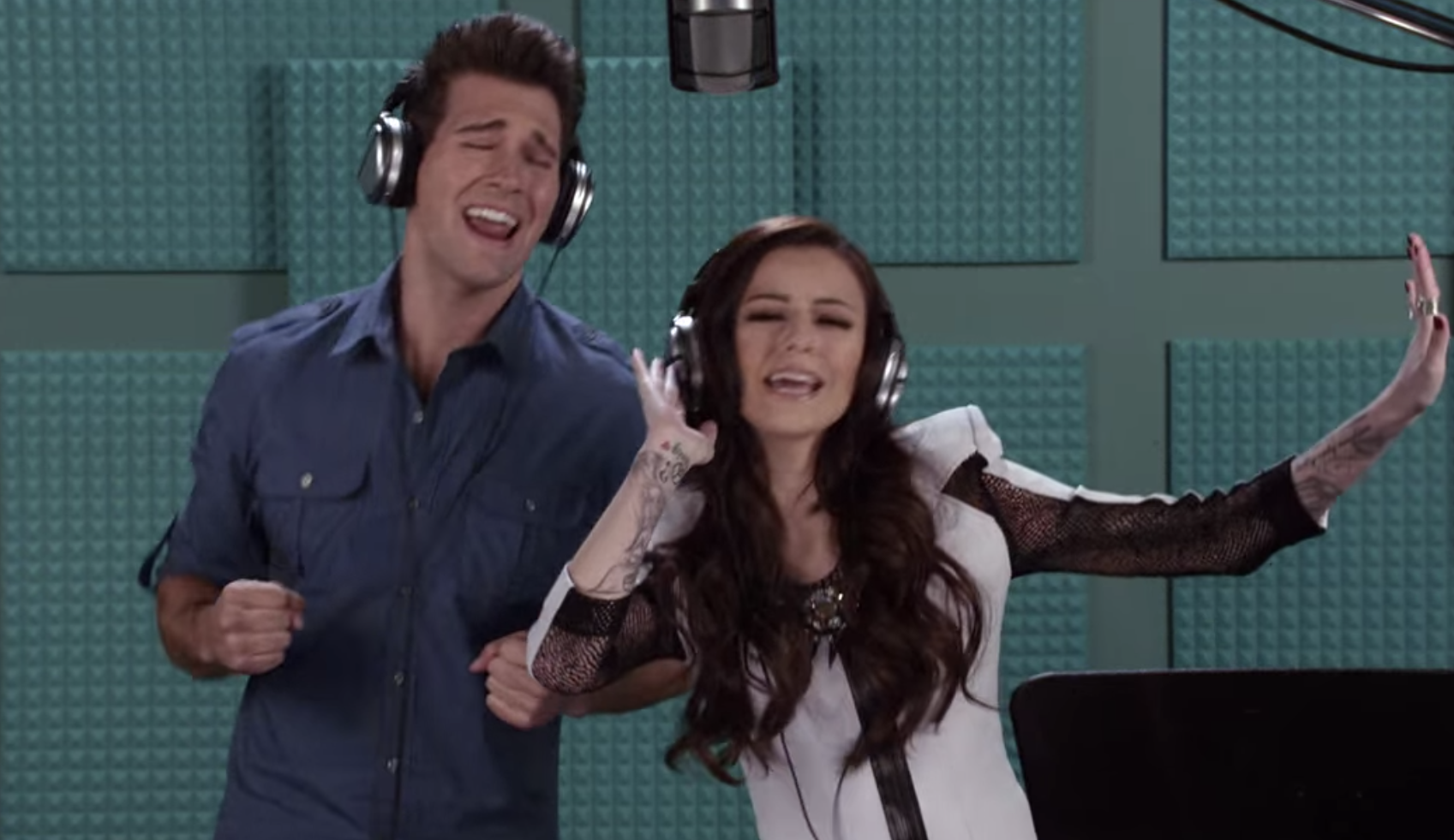 James singing with Cher Lloyd