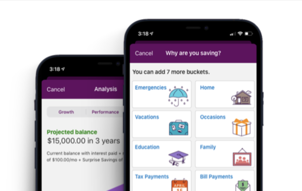 Screenshot of online savings account from Ally