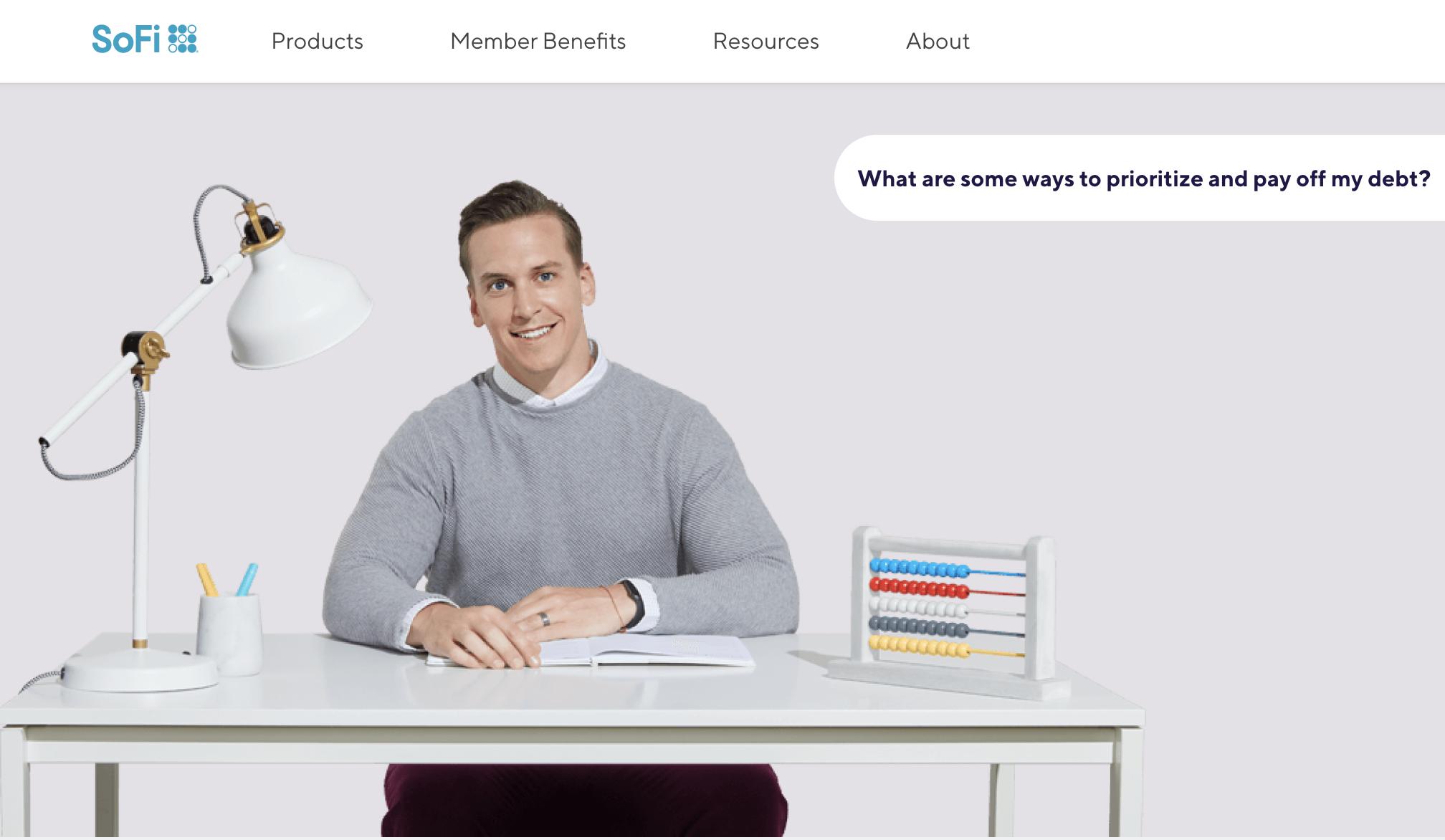 Screenshot of SoFi financial planner