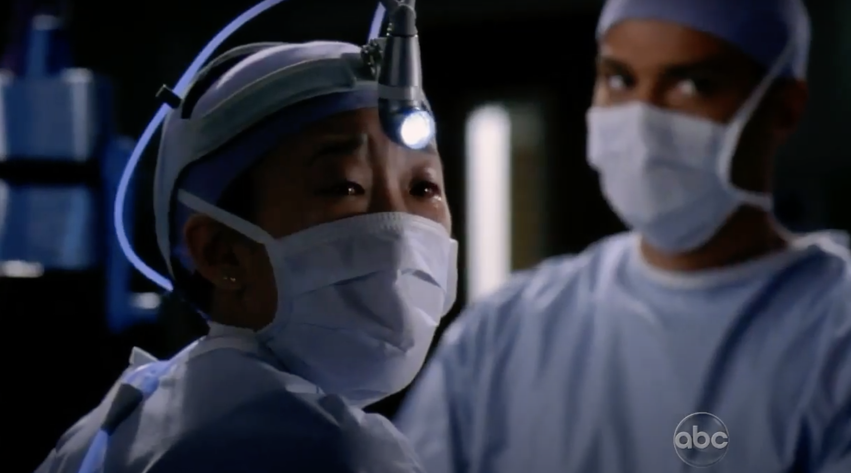 """Cristina operating on a patient in """"Grey's Anatomy"""""""
