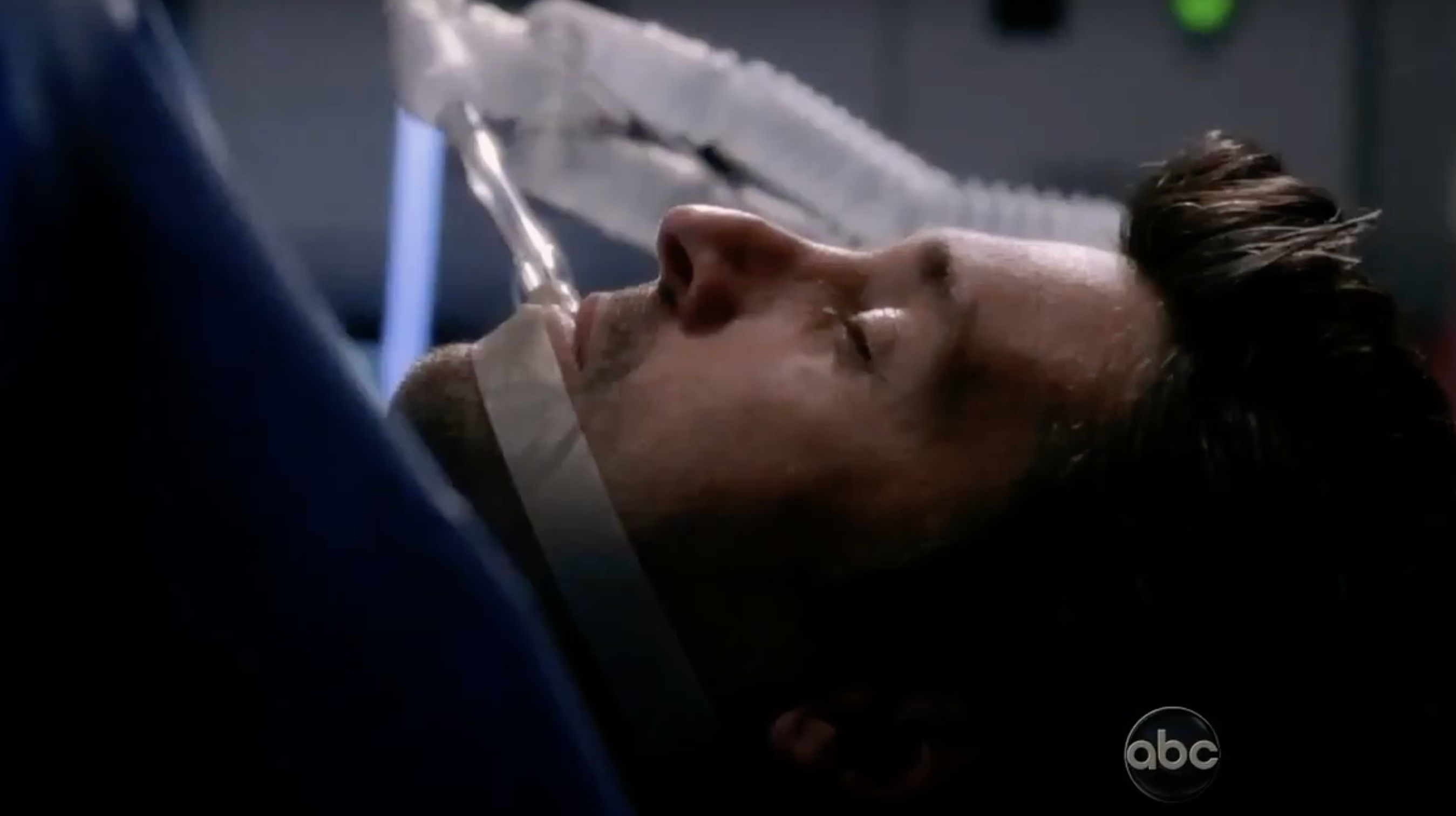 """Patrick Dempsey's character being operated on in """"Grey's Anatomy"""""""