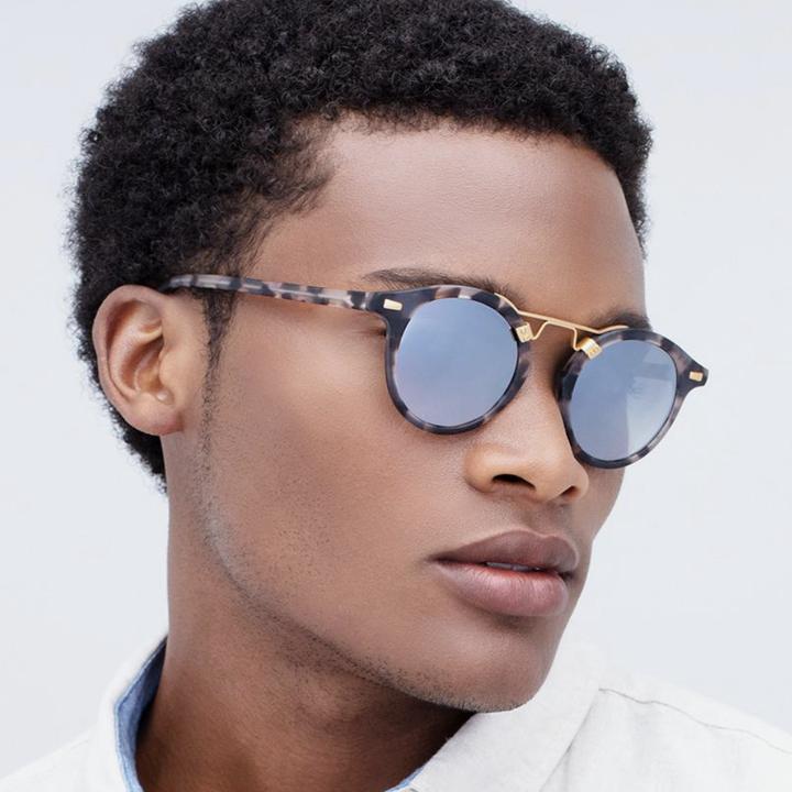 model wearing st. louis sunglasses