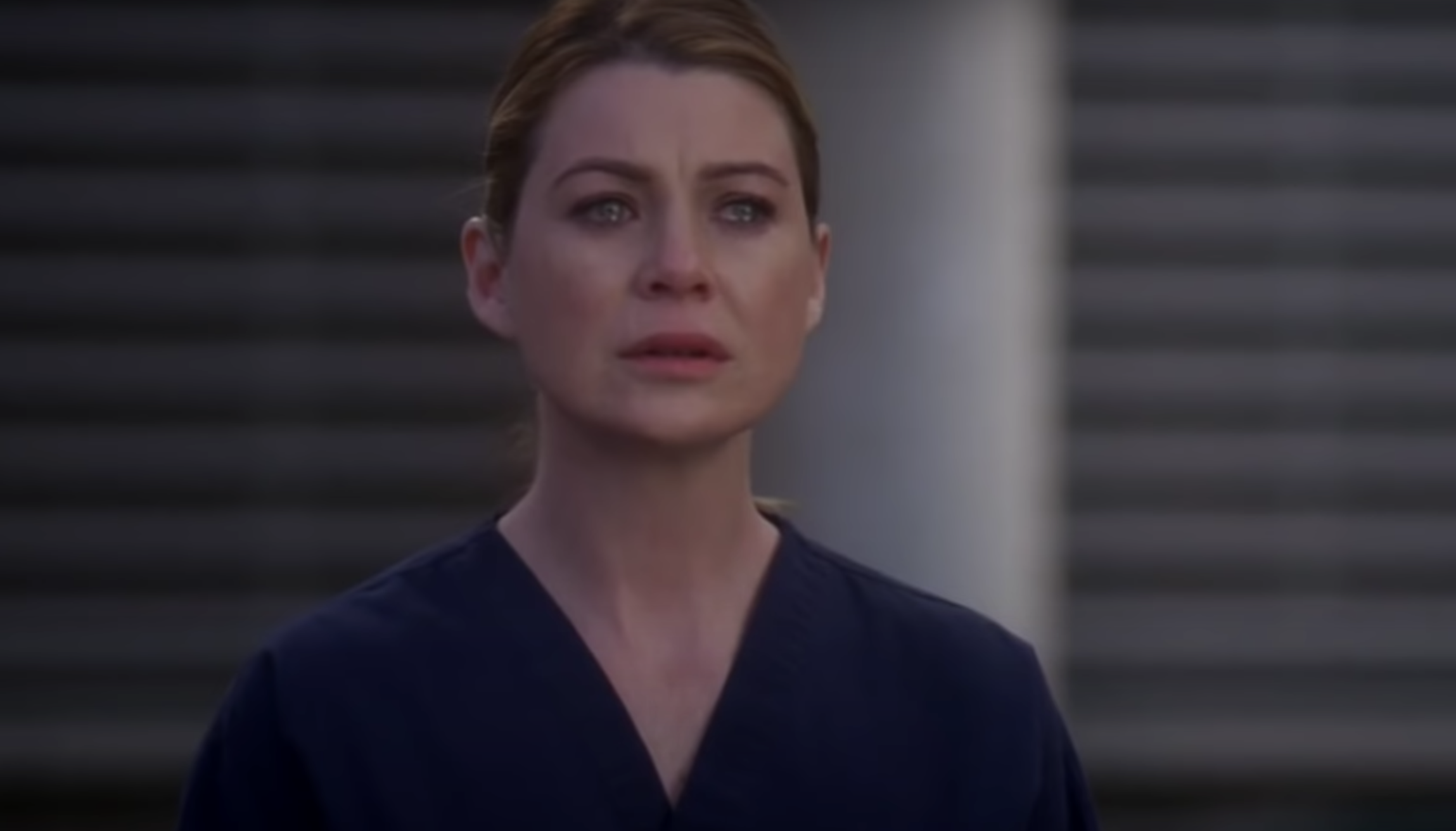 """Meredith looking concerned in """"Grey's Anatomy"""""""