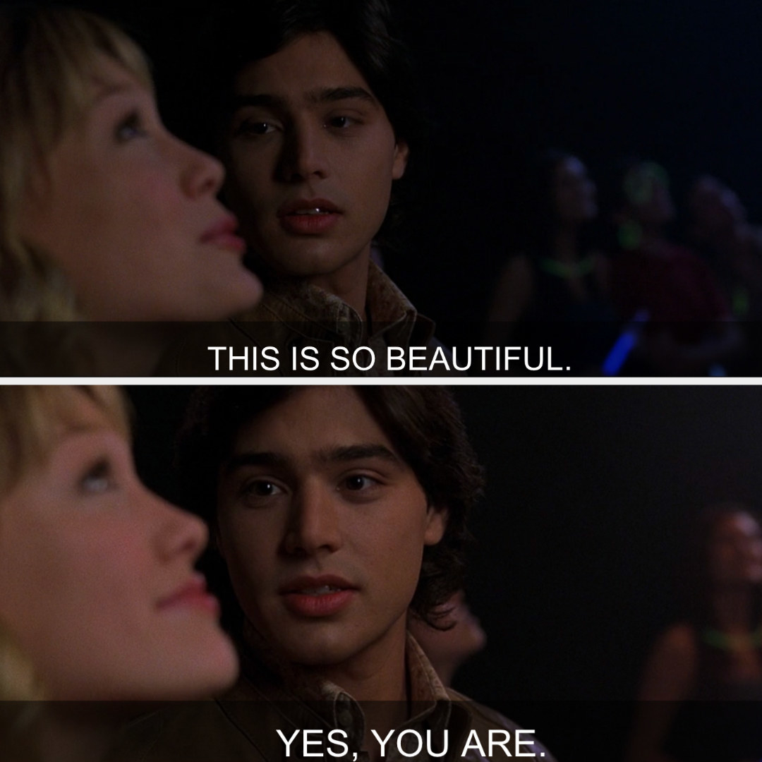 Paolo telling Lizzie that she's beautiful