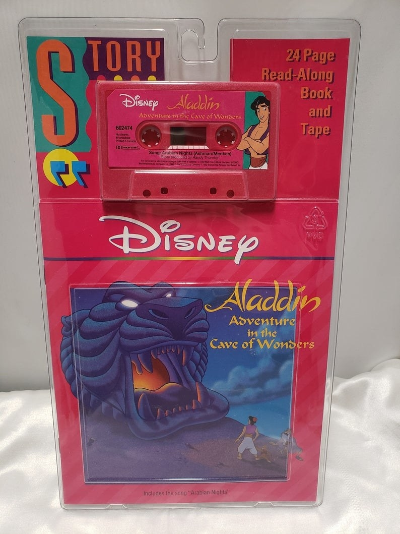 An Aladdin book and tape still in the packaging