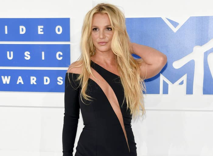 Britney poses at a red carpet event several years ago