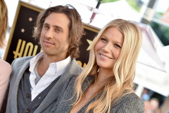 Brad Falchuk and Gwyneth Paltrow attend the ceremony honoring Ryan Murphy with star on the Hollywood Walk of Fame