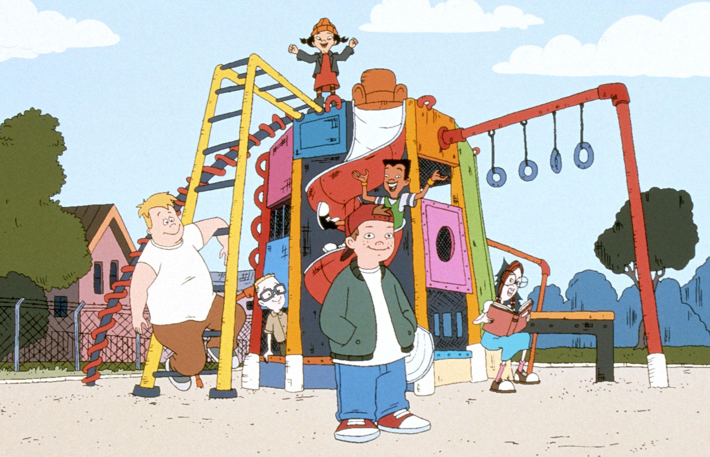 A publicity photo from Disney's Recess cartoon