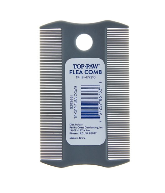 The flea pet comb in gray
