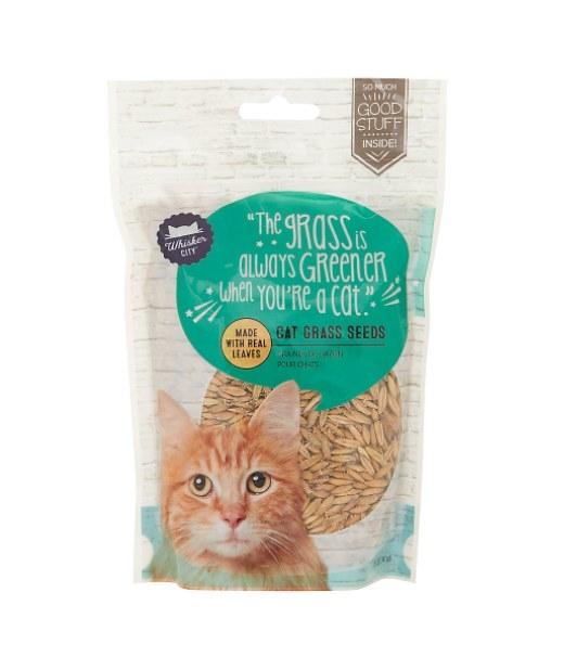 The bag of cat grass seeds