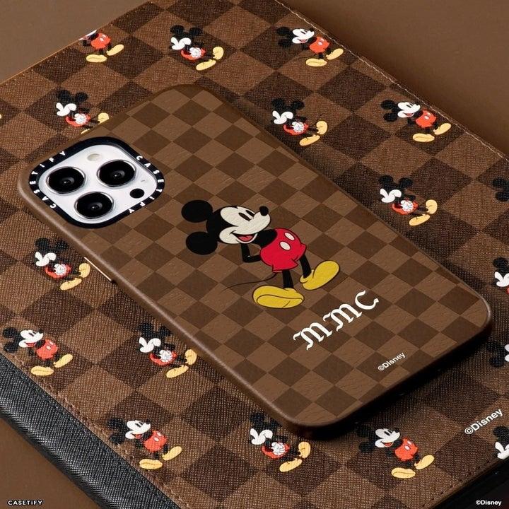 brown checkered disney casetify case