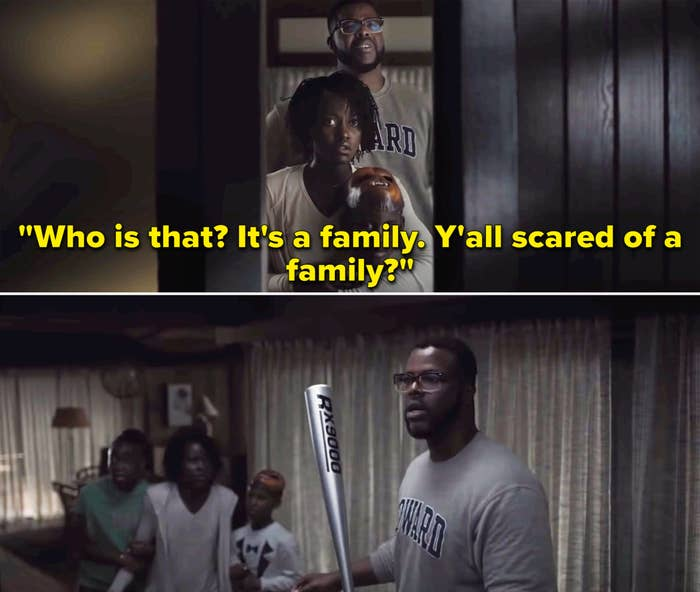 """Gabe saying, """"Who is that? It's a family. Y'all scared of a family?"""""""