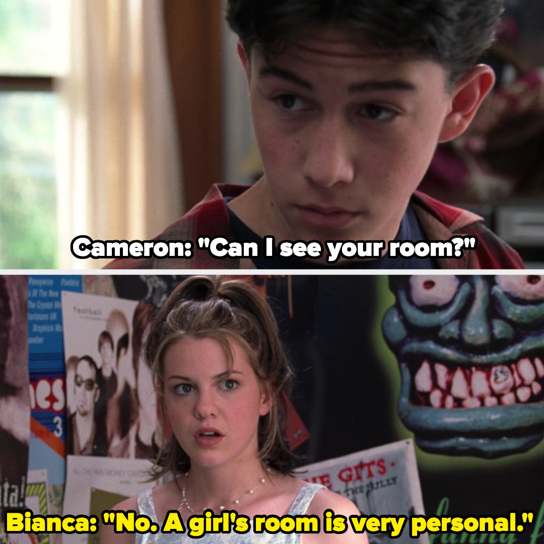 Bianca tells Cameron a girl's room is very personal