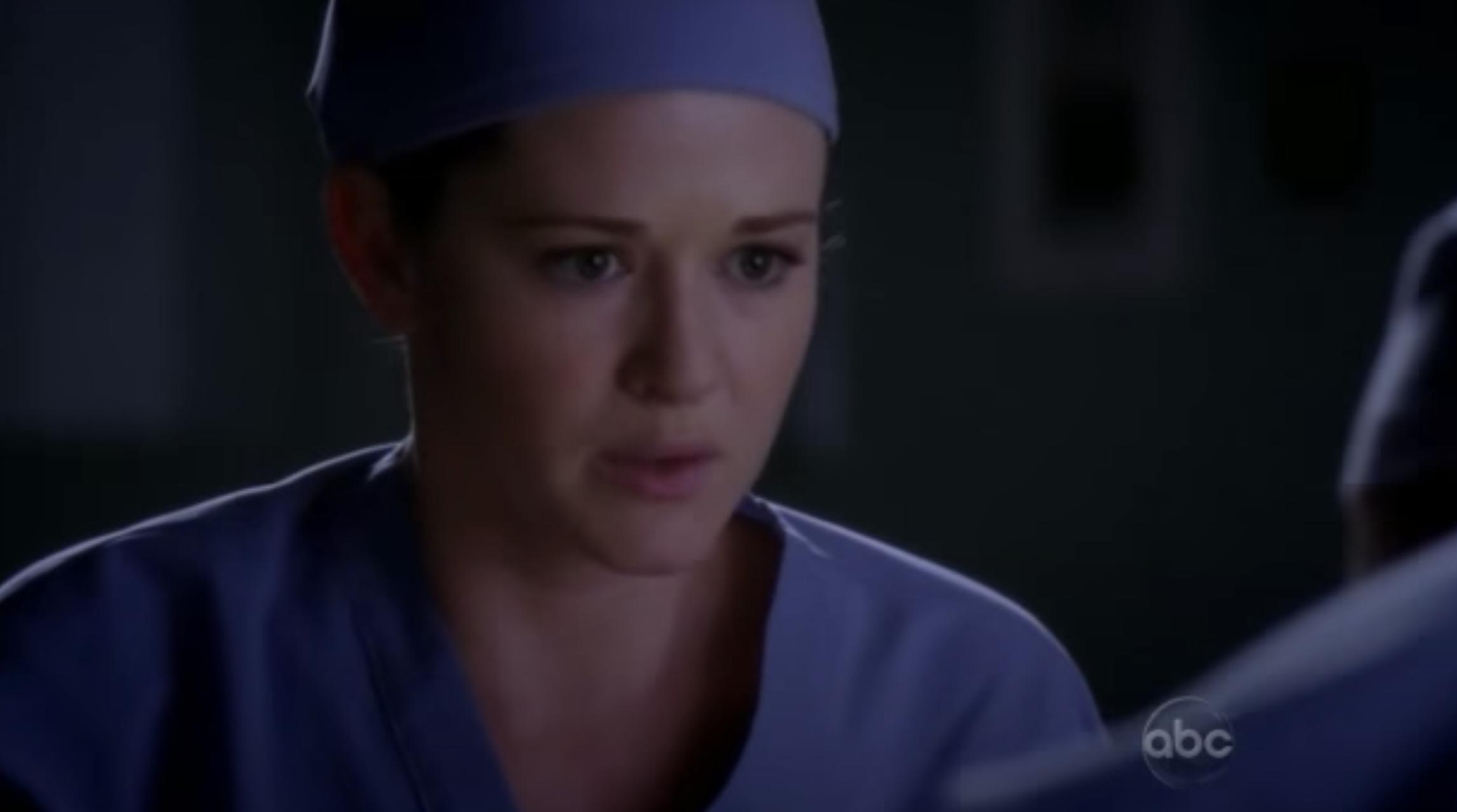 "A nurse in ""Grey's Anatomy"""