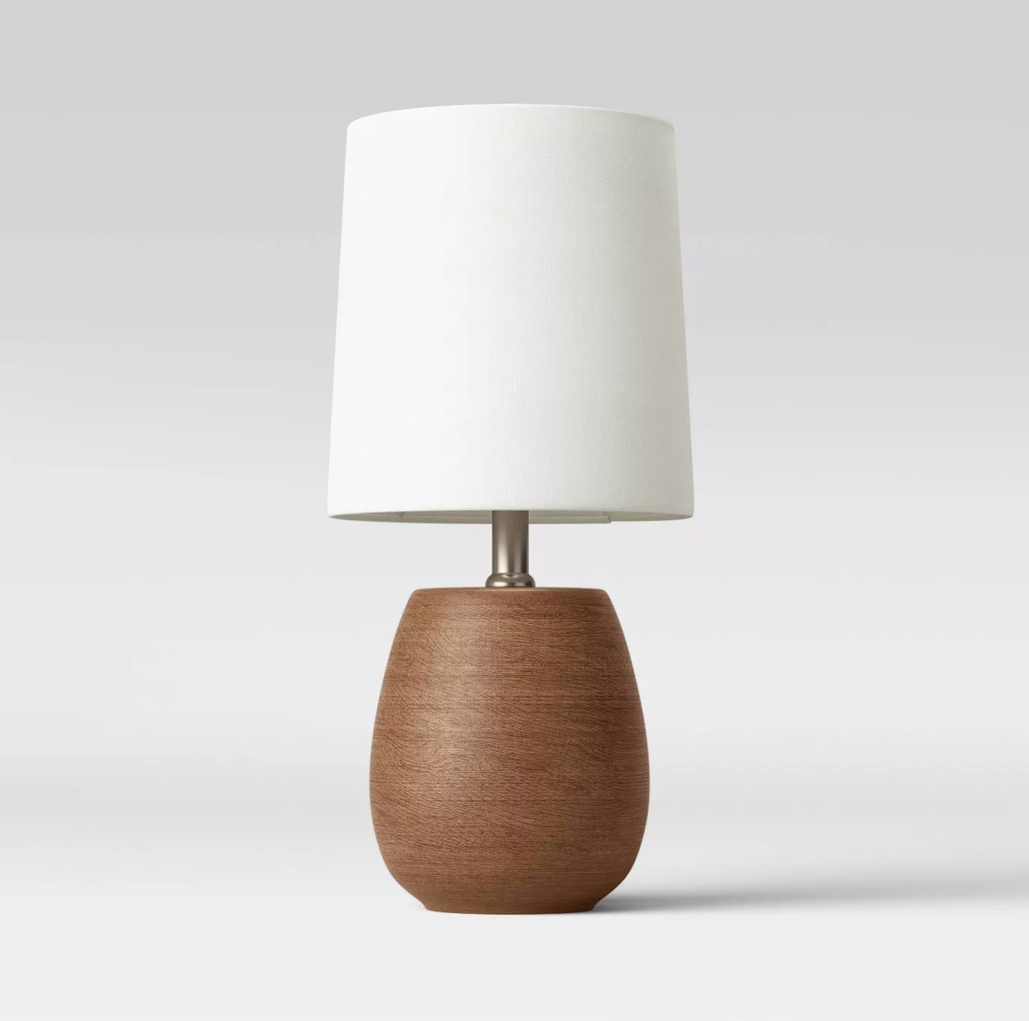 The lamp with a brown finish