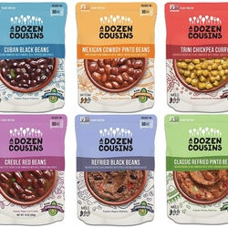 the six microwavable bags of beans