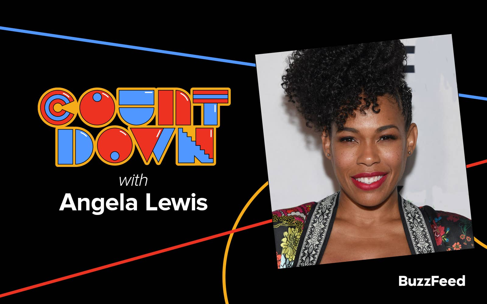 """A graphic that reads, """"Countdown with Angela Lewis"""""""