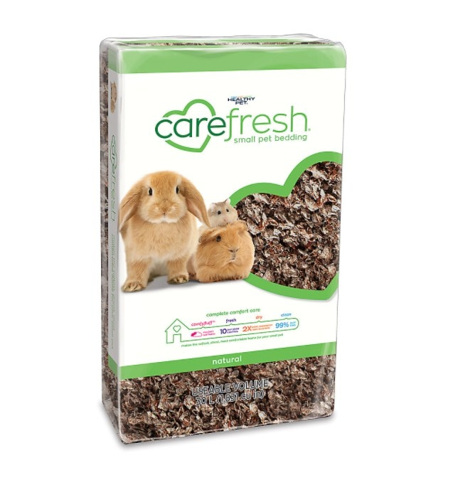 The bag of pet bedding for rabbits, guinea pigs, and hamsters