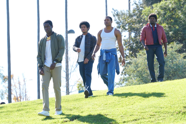 Damson Idris as Franklin Saint, Isaiah John as Leon Simmons, Malcolm Mays as Kevin Hamilton, Amin Joseph as Jerome Saint