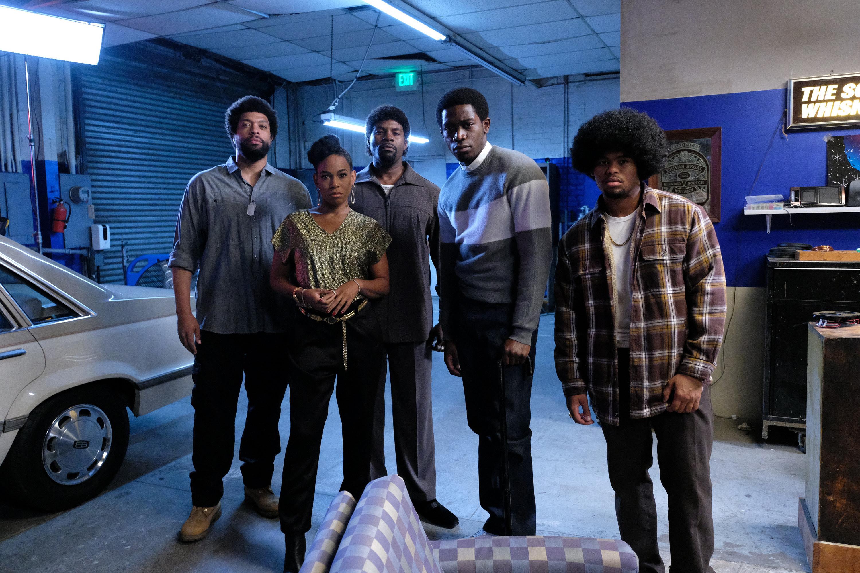 DeRay Davis as Peaches, Angela Lewis as Aunt Louie, Amin Joseph as Jerome Saint, Damson Idris as Franklin Saint, Isaiah John as Leon Simmons