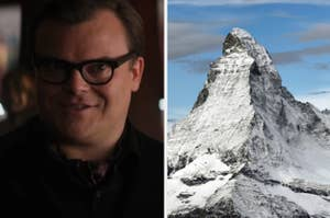 Jack Black on the left and the Matterhorn on the right