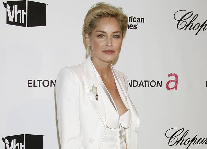Sharon poses at an event around the time she received the letter
