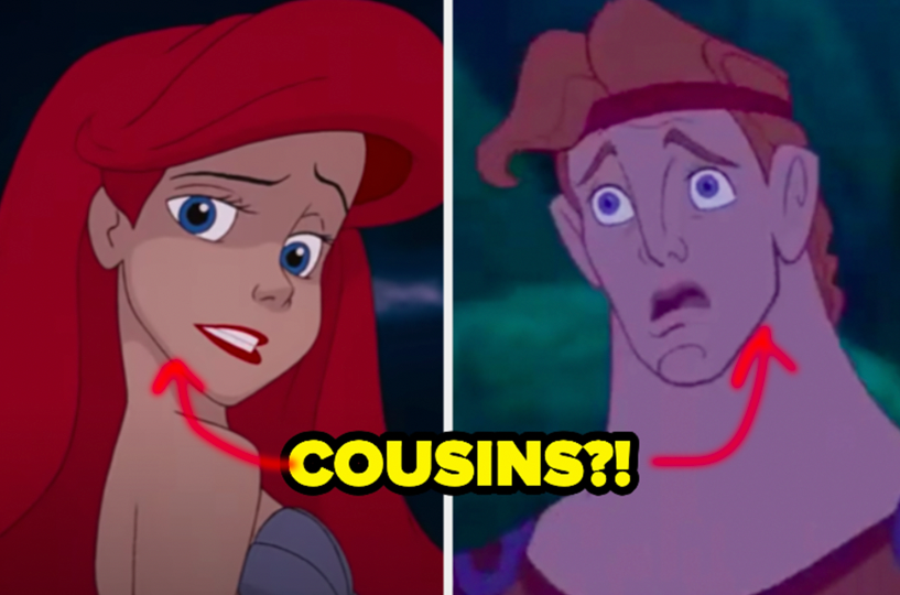 """Ariel from """"The Little Mermaid"""" and Hercules from """"Hercules"""""""