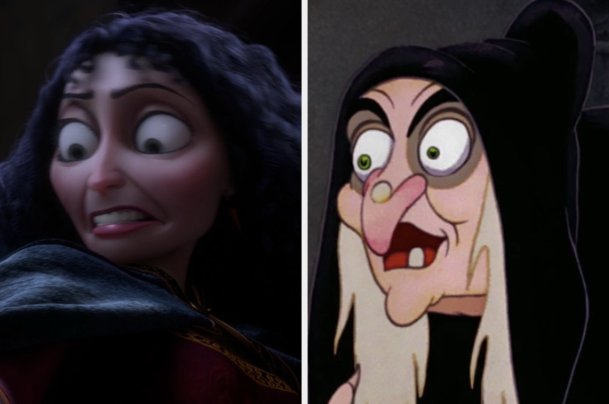 """Mother Gothel from """"Tangled"""" and The Evil Queen from """"Snow White and the Seven Dwarfs"""""""