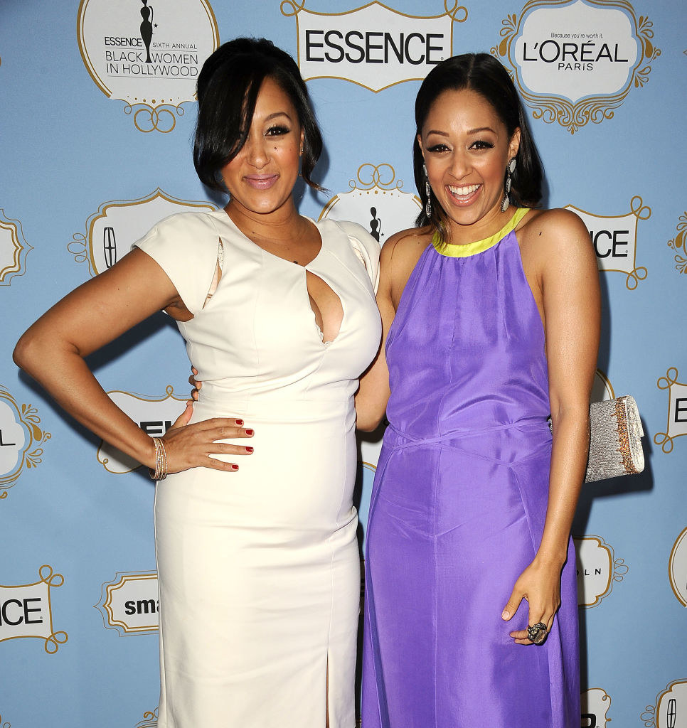 Tamera Mowry (L) and Tia Mowry attend the 6th annual ESSENCE Black Women In Hollywood awards luncheon