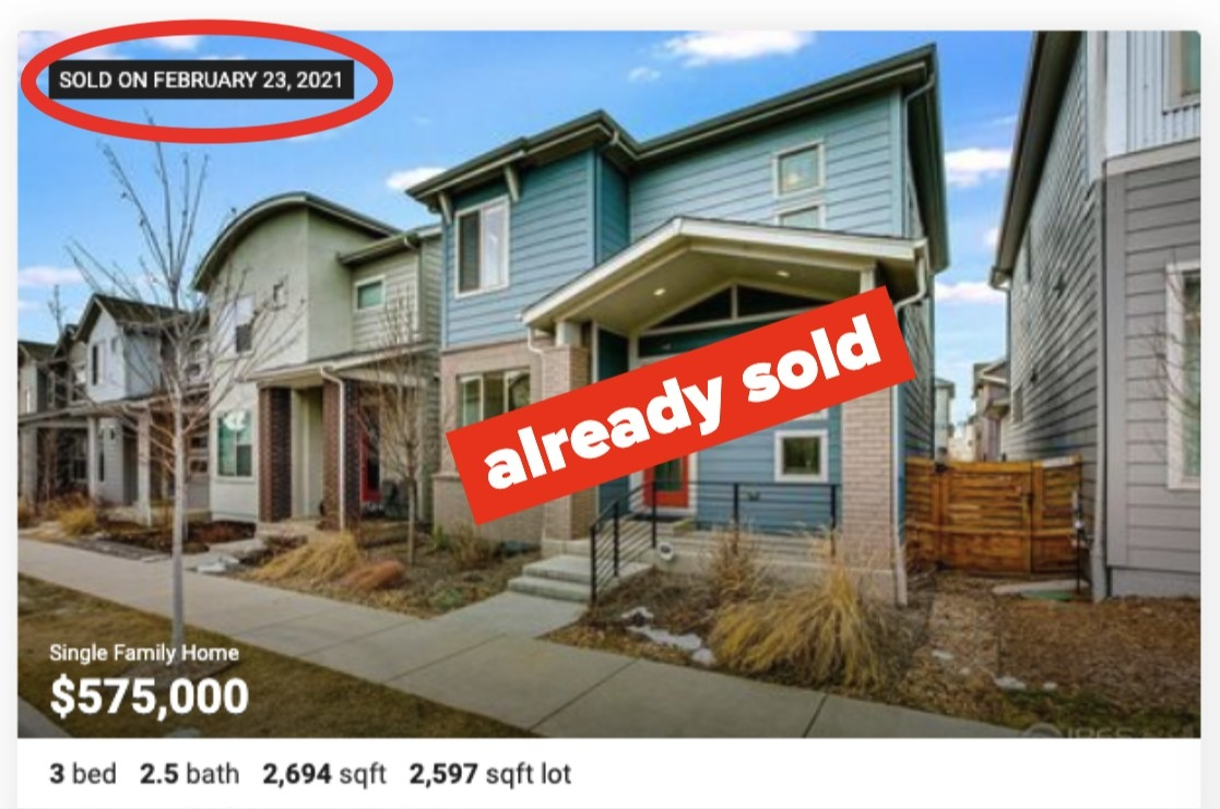 Home that's already sold