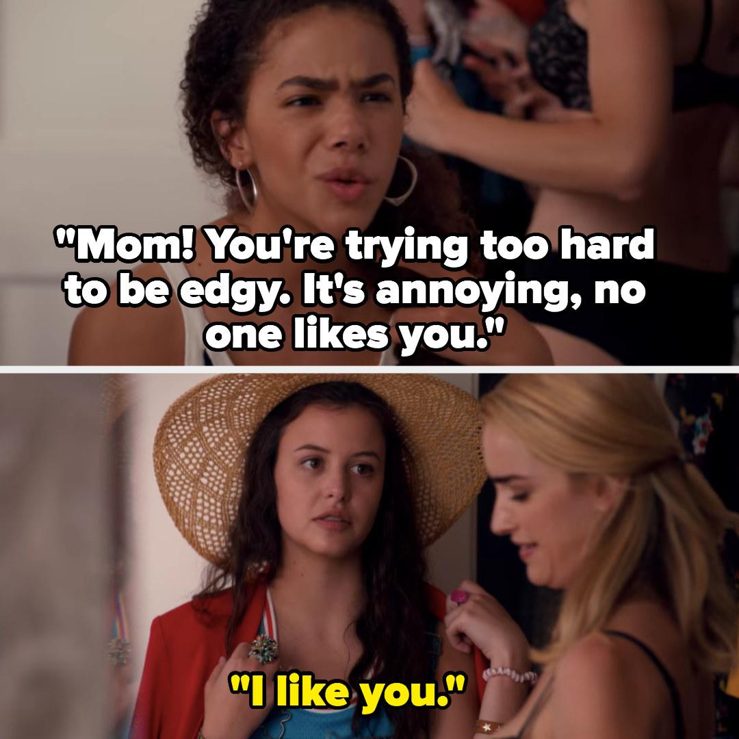 "Ginny tells her mom nobody likes her, Max says, ""I like you"""