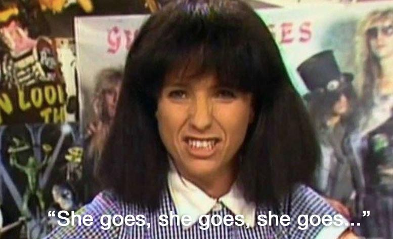 """Kylie Mole saying """"she goes, she goes, she goes"""""""