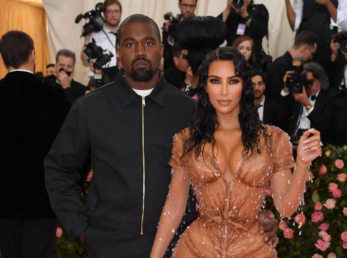Kanye West and Kim Kardashian at the 2019 Met Gala