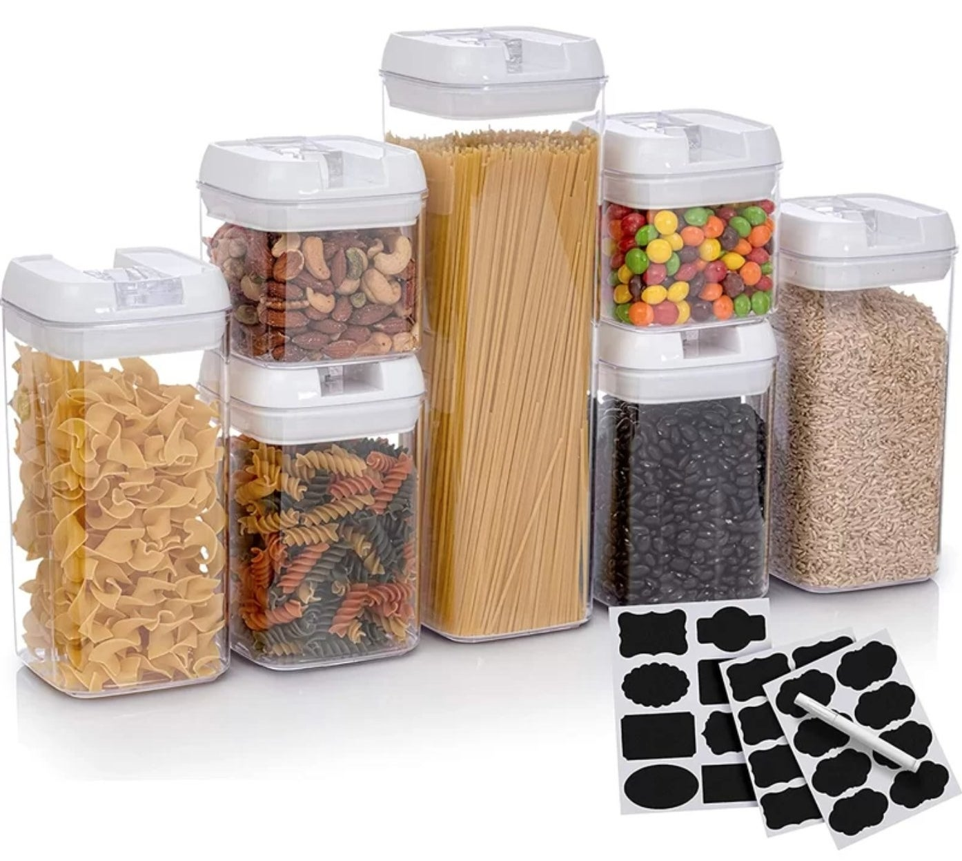 The seven container food storage set